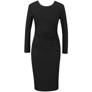 Rochie neagră Vero Moda Mary cu mâneci lungi