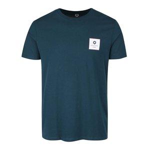 Tricou albastru petrol Jack & Jones Radical din bumbac cu print
