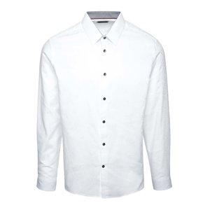 Cămașă albă Burton Menswear London din bumbac cu model discret