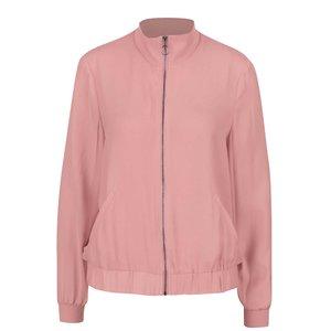 Jachetă cu guler înalt roz prăfuit Vero Moda Sebastin