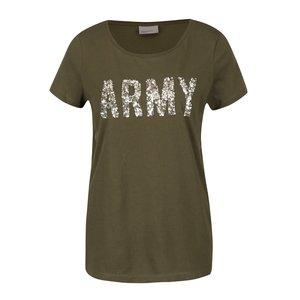 Tricou kaki Vero Moda Army cu aplicații