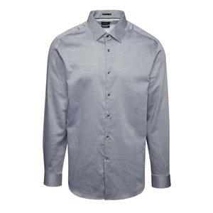 Cămașă gri Burton Menswear London din bumbac cu model discret