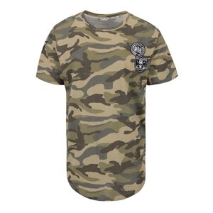 Tricou verde & maro ONLY & SONS Faba din bumbac cu model camuflaj