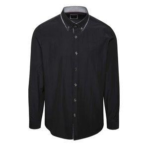 Camasa Neagra Burton Menswear London Cu Detaliu La