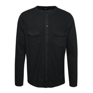 Cămașă neagră Burton Menswear London din bumbac cu guler tunică de la Zoot.ro