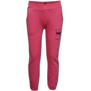 Pantaloni sport roz 5.10.15. cu print și talie elastică de la Zoot.ro