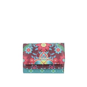 Portofel multicolor cu imprimeu floral Desigual Mix Kaitlin