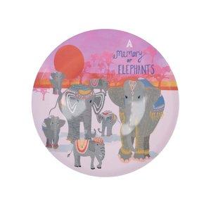 Farfurie gri cu imprimeu Disaster Elephant