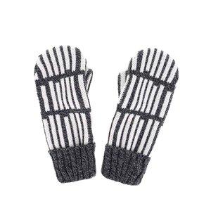 Mănuși gri cu alb în dungi Puojd Packy