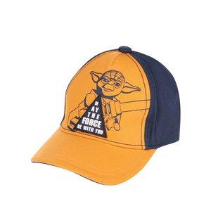 Șapcă albastru & portocaliu LEGO Wear Carlos din bumbac cu print