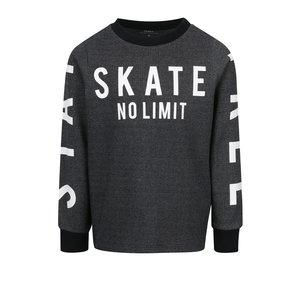 Bluză gri melanj închis cu imprimeu text name it Drake pentru băieți de la Zoot.ro