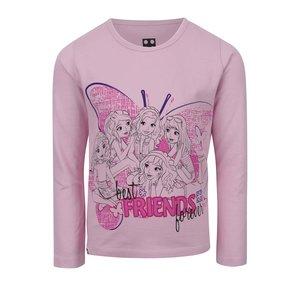 Bluză roz pal LEGO Wear din bumbac cu print pentru fete