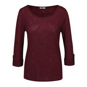 Bluză roșu Bordeaux cu mâneci trei sferturi ONLY Jess