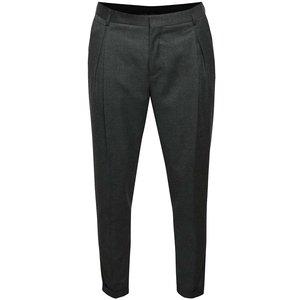 Pantaloni gri melanj Selected Homme Xanti