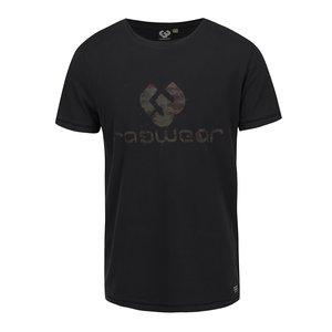 Tricou negru cu imprimeu logo Ragwear Camou Organic