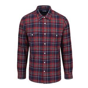 Cămașă roșu & albastru Burton Menswear London din bumbac cu model în carouri