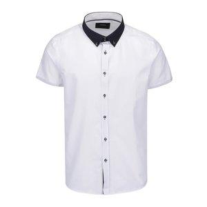 Cămașă albă Burton Menswear London cu mâneci scurte