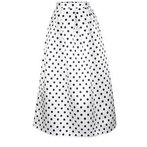 Fustă maxi albă Closet cu model cu buline