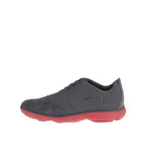 Pantofi sport albaștri Geox Nebula cu detaliu din piele întoarsă pentru bărbați de la Zoot.ro