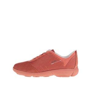 Pantofi sport portocalii Geox Nebula G cu detalii din piele întoarsă de la Zoot.ro
