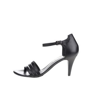 Sandale negre cu toc Tamaris