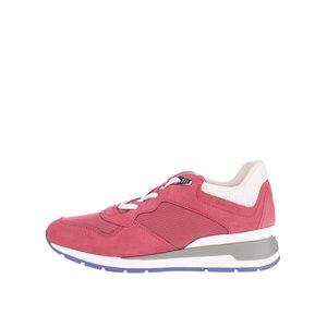 Pantofi sport roșii Geox Shahira cu detalii albe