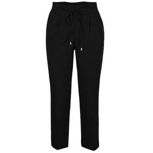 Pantaloni negri Miss Selfridge cu șnur în talie