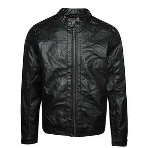 Jachetă neagră Blend din piele ecologică de la Zoot.ro