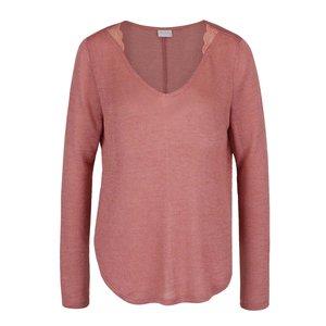 Bluză roz prăfuit VILA Majsa din jerseu subțire de la Zoot.ro