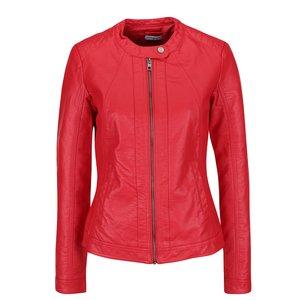 Jachetă roșie Jacqueline de Yong Lesley din piele ecologică de la Zoot.ro