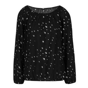 Bluza Neagra Hailys Adaline Cu Imprimeu