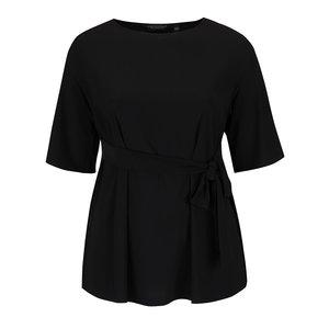 Bluză neagră Dorothy Perkins Curve cu fundă decorativă de la Zoot.ro