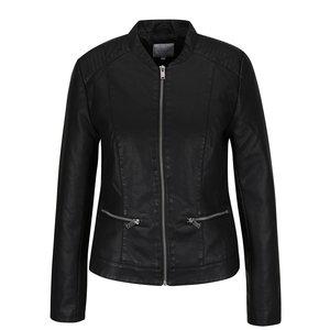 Jachetă neagră VILA Popular din piele ecologică de la Zoot.ro