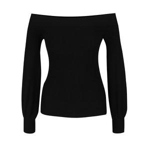 Bluză neagră din jerseu subțire Miss Selfridge cu decolteu pe umeri de la Zoot.ro