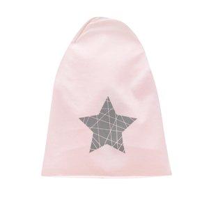 Căciulă roz pal name it Moppy cu print cu stea pentru fete de la Zoot.ro