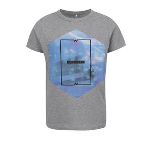 Tricou gri melanj name it Fabio cu print pentru băieți de la Zoot.ro