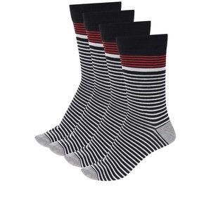 Set de 4 perechi de șosete Jack & Jones Stripe cu model în dungi