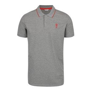 Tricou Polo Gri Melanj Jack & Jones Stone Cu Logo