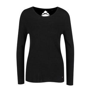 Bluză neagră ONLY Cosy cu șireturi la spate de la Zoot.ro