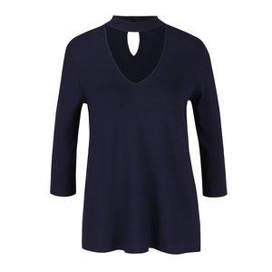 Bluză bleumarin Dorothy Perkins cu decupaj en coeur de la Zoot.ro