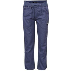 Pantaloni sport albaștri Blue Seven din bumbac cu talie elastică și aplicație de la Zoot.ro