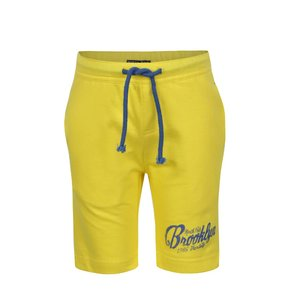 Pantaloni scurți sport galbeni North Pole Kids din bumbac cu print
