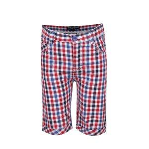 Pantaloni scurți roșu & albastru North Pole Kids din bumbac cu model în carouri