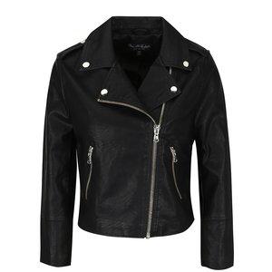 Jachetă neagră Miss Selfridge din piele ecologică de la Zoot.ro