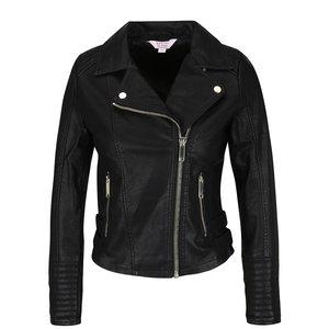 Jachetă neagră Miss Selfridge Petites din piele ecologică de la Zoot.ro