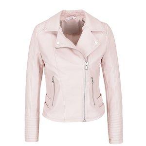 Jachetă roz pal Miss Selfridge Petites din piele ecologică de la Zoot.ro