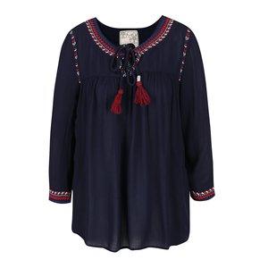 Bluză albastru închis M&Co cu croi lejer și detalii de la Zoot.ro