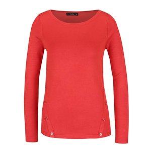 Pulover roșu deschis M&Co cu croi drept și nasturi decorativi de la Zoot.ro