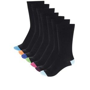 Set 7 perechi șosete negre cu detalii colorate M&Co de la Zoot.ro