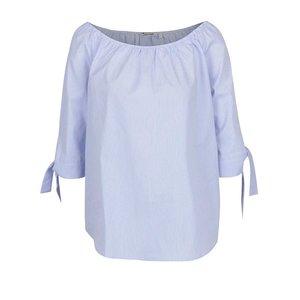 Bluză alb & albastru Rich & Royal din bumbac cu model în dungi și mâneci trei sferturi de la Zoot.ro